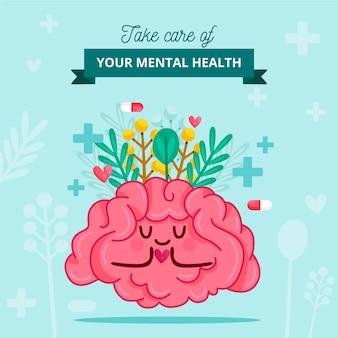 Conceito de conscientização de saúde mental