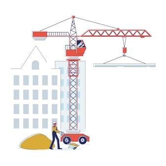 Conceito de construção de apartamentos residenciais