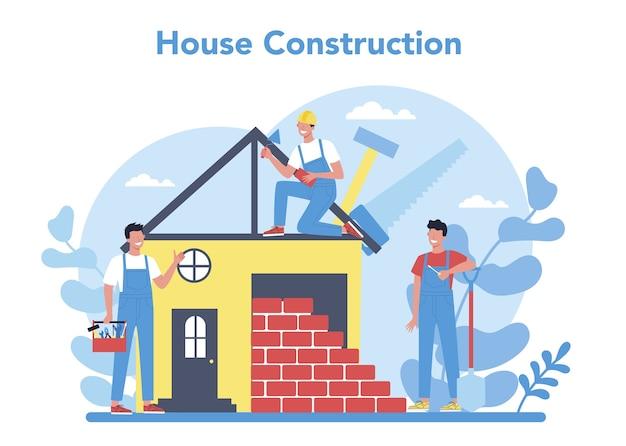 Conceito de construção de casa
