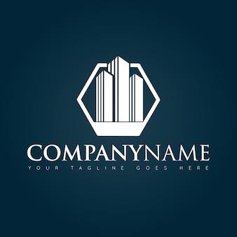 Conceito de construção logotipo, ícone, símbolo, modelo de design