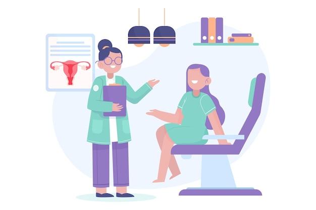Conceito de consulta de ginecologia