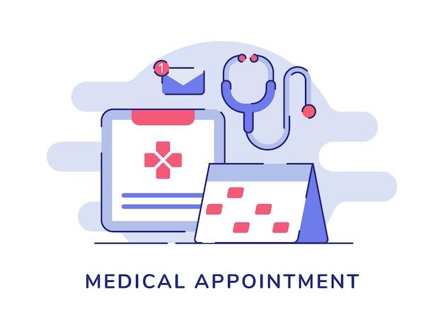 Conceito de consulta médica isolado no branco
