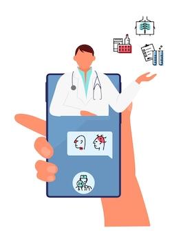 Conceito de consulta médica online