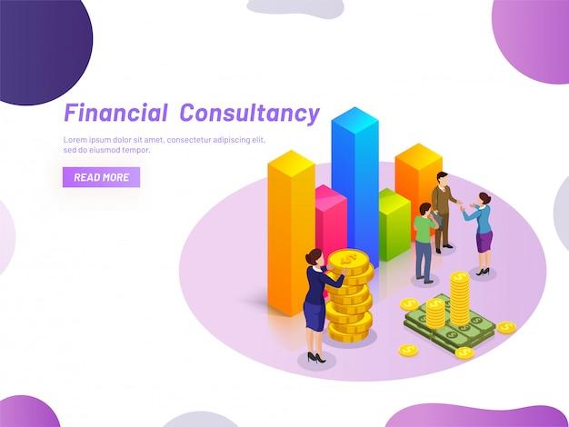 Conceito de consultoria financeira.