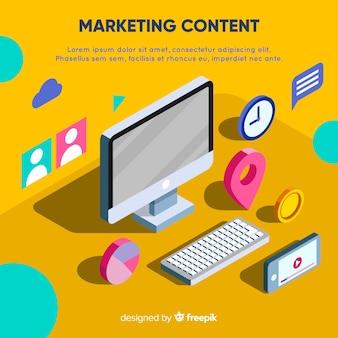 Conceito de conteúdo de marketing