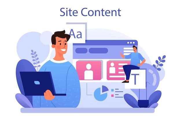 Conceito de conteúdo do site