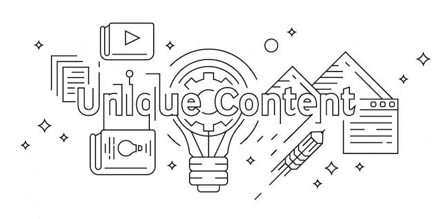 Conceito de conteúdo exclusivo design de linha plana