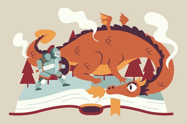 Conceito de conto de fadas mágico ilustrado