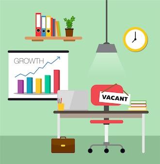 Conceito de contratação e recrutamento de negócios