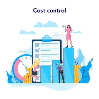 Conceito de controle de custos