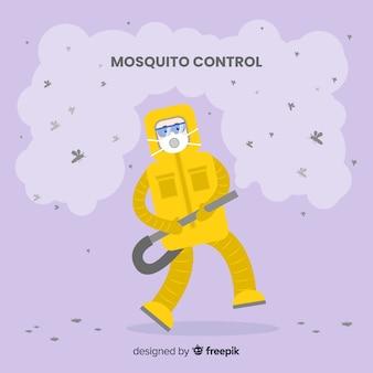 Conceito de controle de mosquito criativo