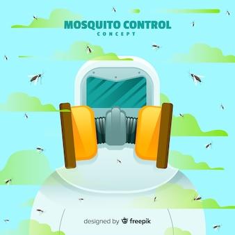Conceito de controle de mosquito