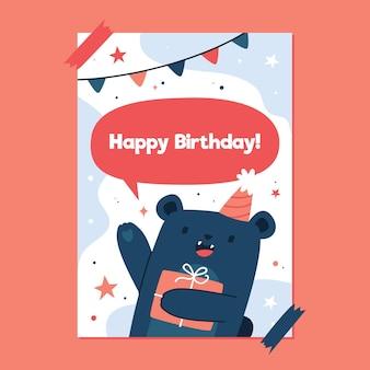 Conceito de convite de aniversário para crianças