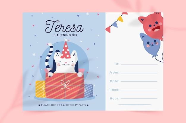 Conceito de convite de aniversário
