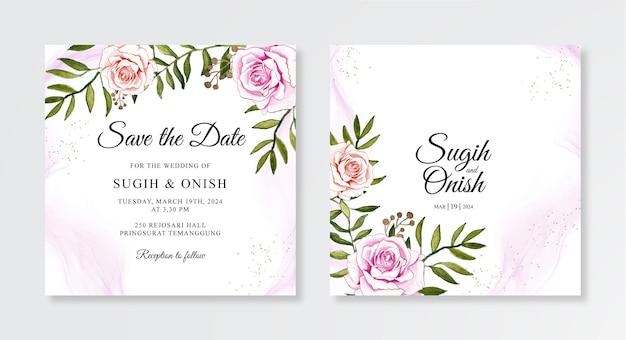 Conceito de convite de casamento elegante