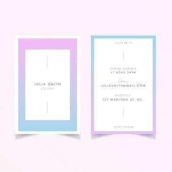 Conceito de cor patel para design de cartão de visita
