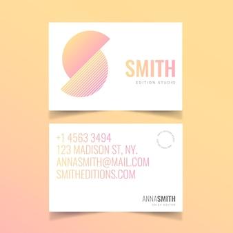 Conceito de cor patel para tema de cartão de visita