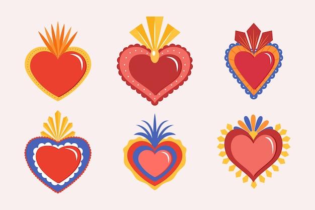 Conceito de coração sagrado vermelho