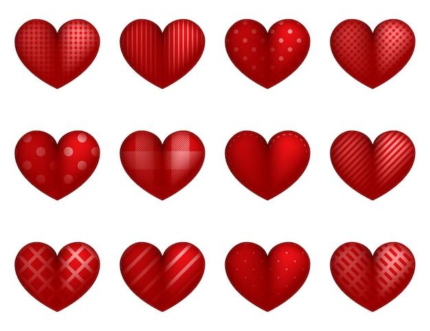 Conceito de corações dos namorados de corações vermelhos amor dia dos namorados