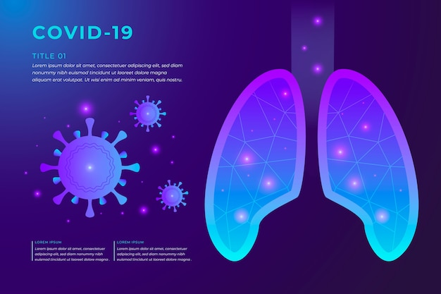 Conceito de coronavírus com pulmões
