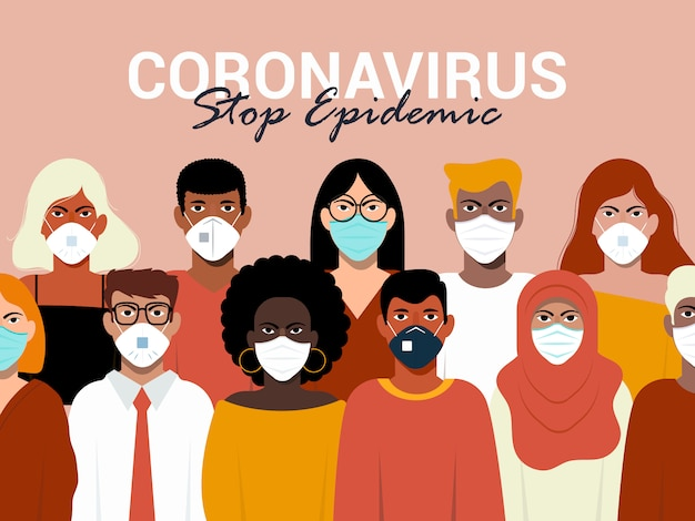 Conceito de coronavírus
