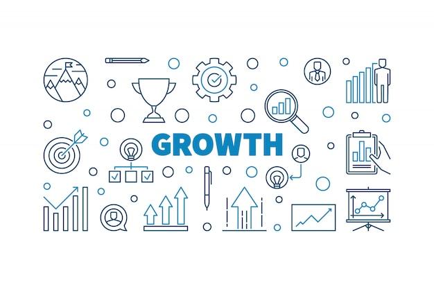 Conceito de crescimento criativo contorno icon ilustração ou banner