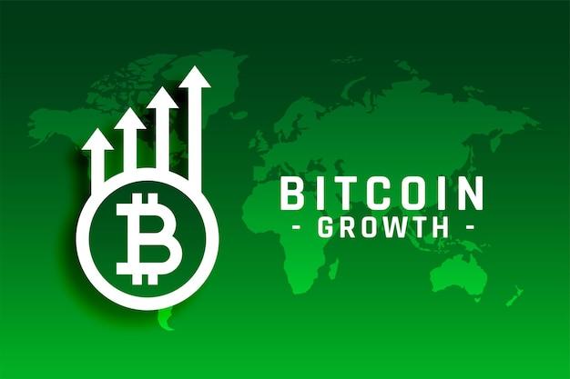 Conceito de crescimento de bitcoin com seta para cima