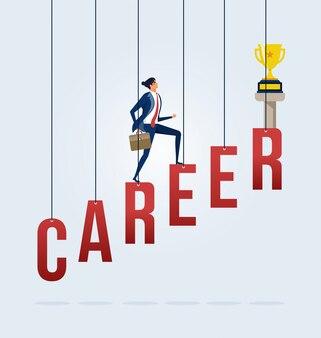 Conceito de crescimento de carreira de negócios