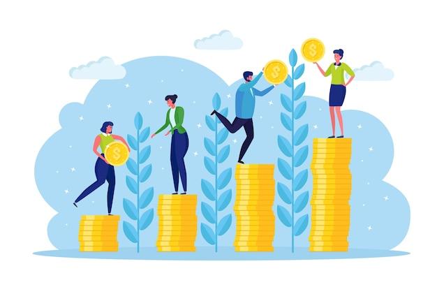 Conceito de crescimento de investimento e finanças