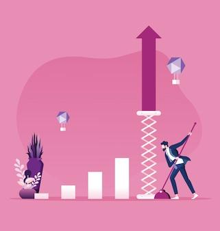 Conceito de crescimento do negócio