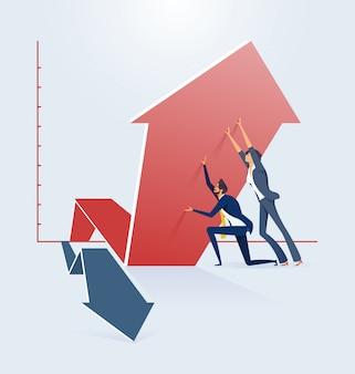 Conceito de crescimento e sucesso do negócio