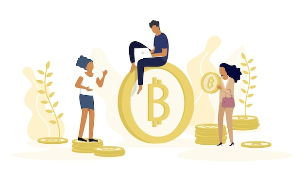 Conceito de criptomoeda bitcoin blockchain.