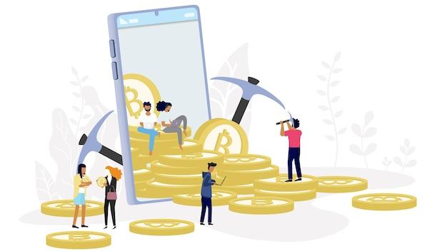Conceito de criptomoeda bitcoin blockchain