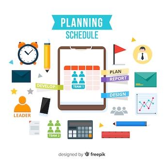Conceito de cronograma de planejamento criativo