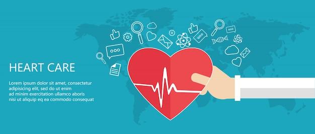 Conceito de cuidados cardíacos