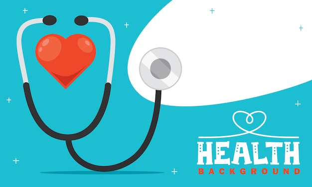 Conceito de cuidados de saúde com caracteres