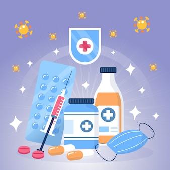 Conceito de cura de vírus ilustrado