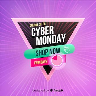 Conceito de cyber segunda-feira com fundo realista