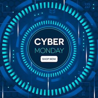 Conceito de cyber segunda-feira de tecnologia realista