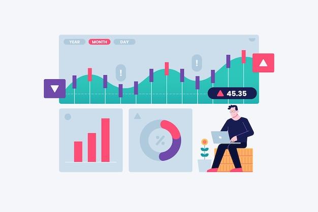 Conceito de dados da bolsa de valores
