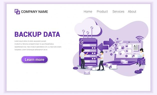 Conceito de dados de backup com caracteres