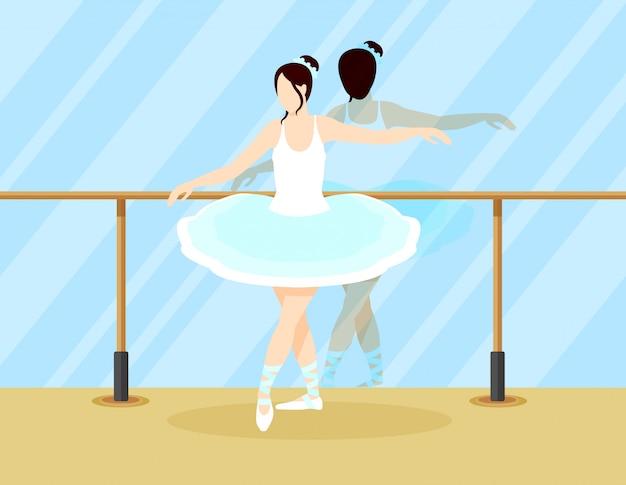 Conceito de dançarina de balé colorido