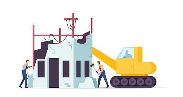 Conceito de demolição de edifícios