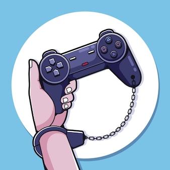 Conceito de dependência de jogos online