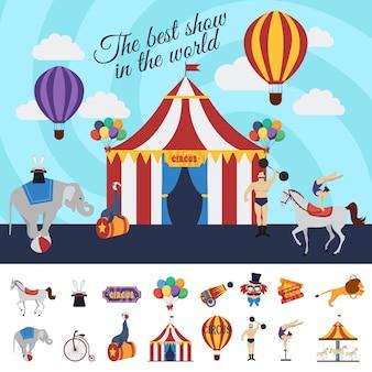 Conceito de desempenho de circo