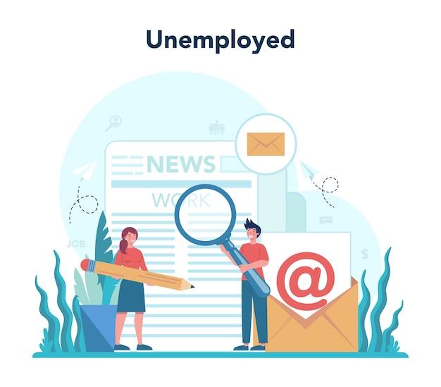 Conceito de desempregados.