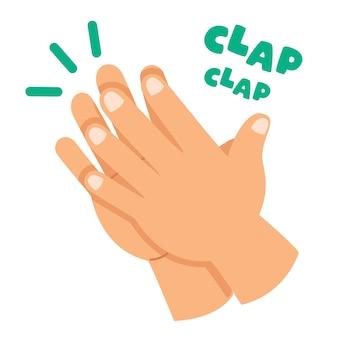 Conceito de desenho animado de palmas de mãos