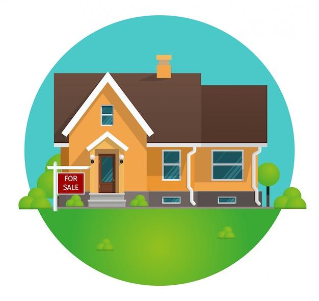 Conceito de desenho de ilustração vetorial alugar casa