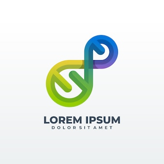 Conceito de desenhos de logotipo de dna