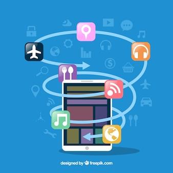 Conceito de desenvolvimento de aplicativos com estilo moderno